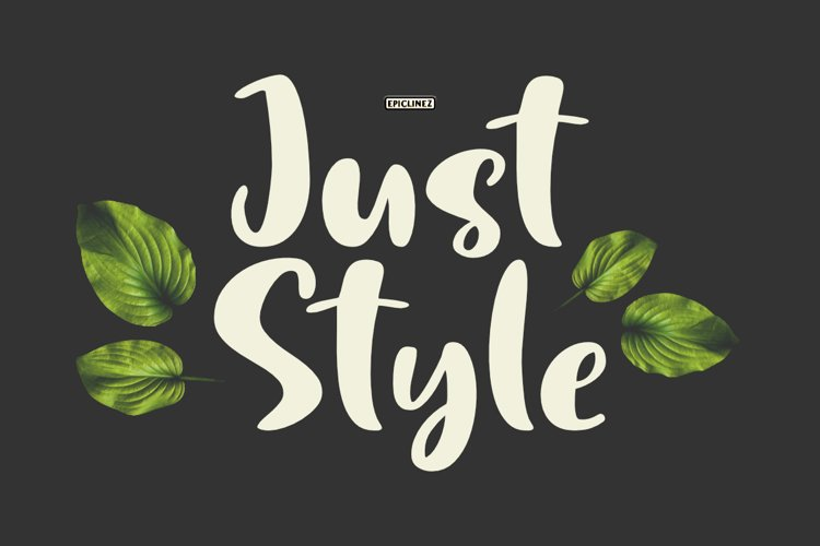 Just Style   Cute Handwritten Font example image 1
