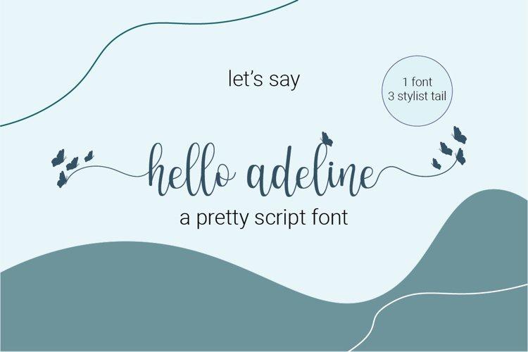 Hello adeline | a pretty script example image 1
