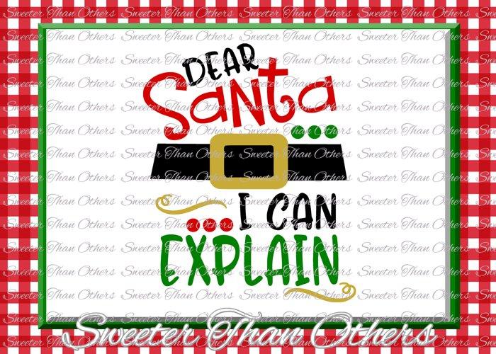 Santa I can Explain Svg Silhouette Christmas svg