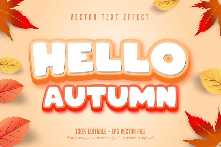 Hello autumn text, autumn style editable text effect example image 1