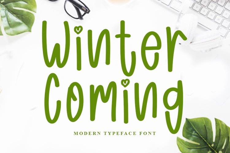 Winter Coming - Smart Cute Font example image 1