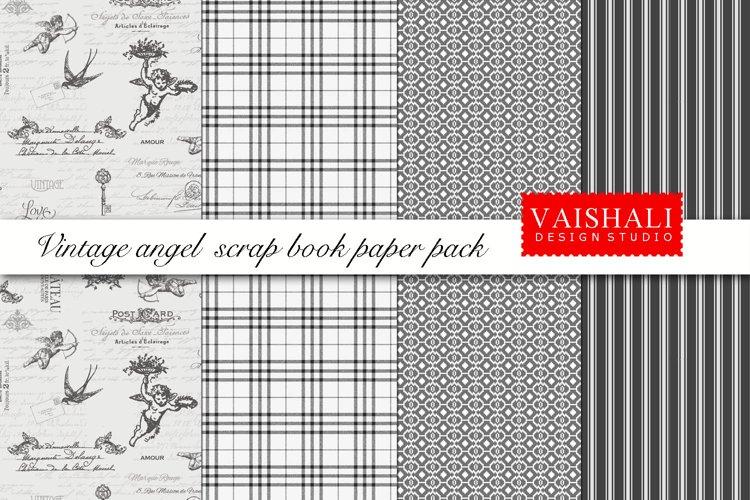 ANGELS coordinated print set, seamless pattern