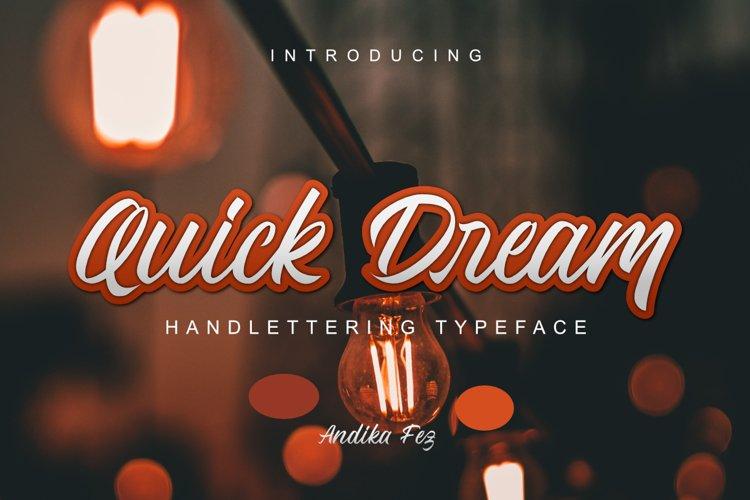 Quick Dream Font example image 1