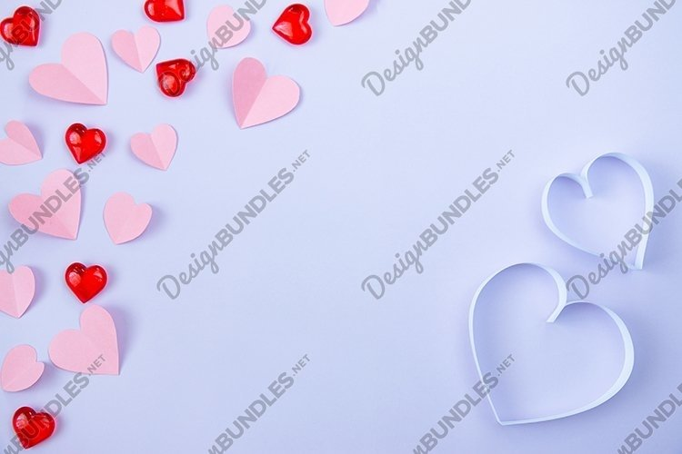 Heart on a lilac background. Valentine's Day. example image 1