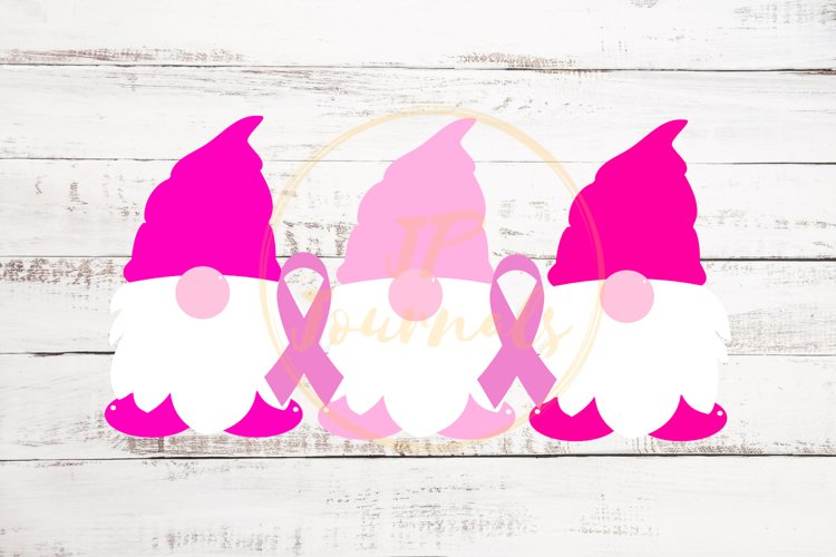 Breast Cancer Awareness Gnomes SVG example image 1