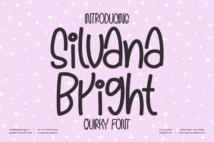 Silvana Bright - Quirky Handwritten Font example image 1