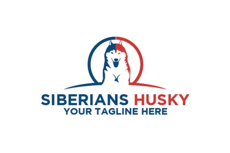 Siberian Husky Dog Logo example image 1