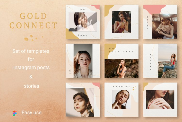 GOLD CONNECT Instagram Templates example image 1