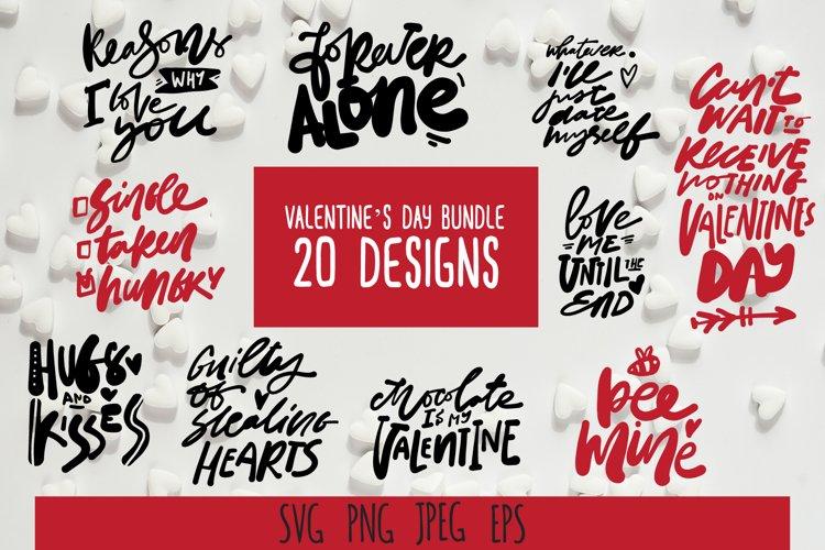 Valentine SVG bundle. 20 designs example image 1