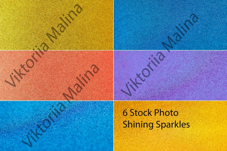 Defocused backgrounds of shining sparkles. example image 1
