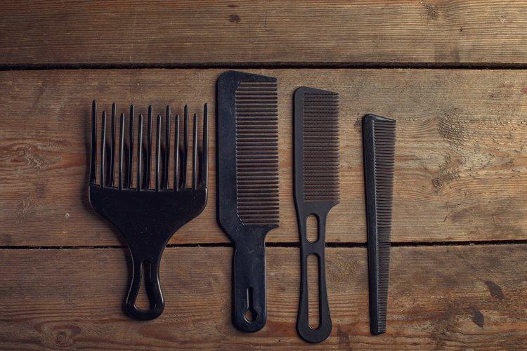 Barber shop wooden backgrounds JPG set example 5
