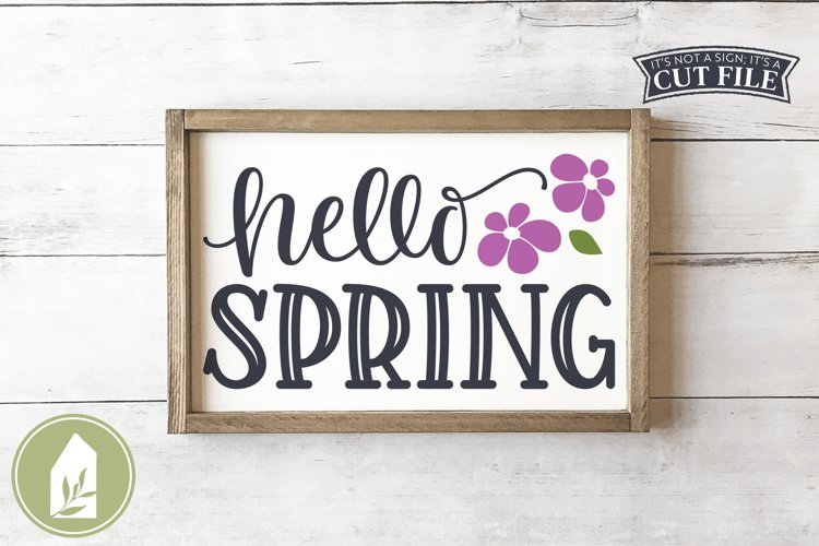 Hello Spring SVG, Spring Sign SVG example image 1