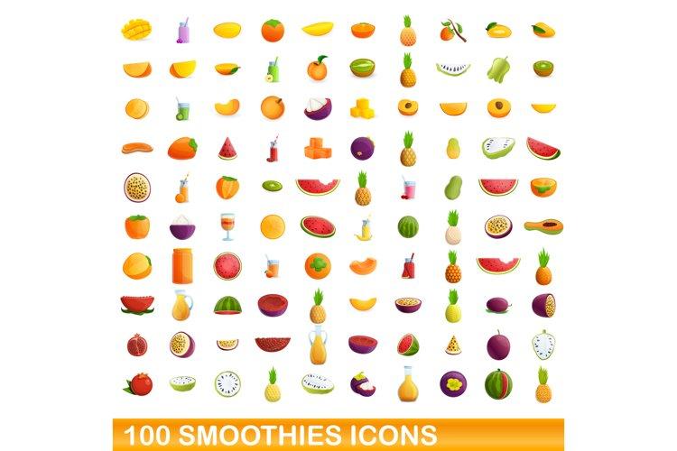 Smoothies icons set, cartoon style example image 1