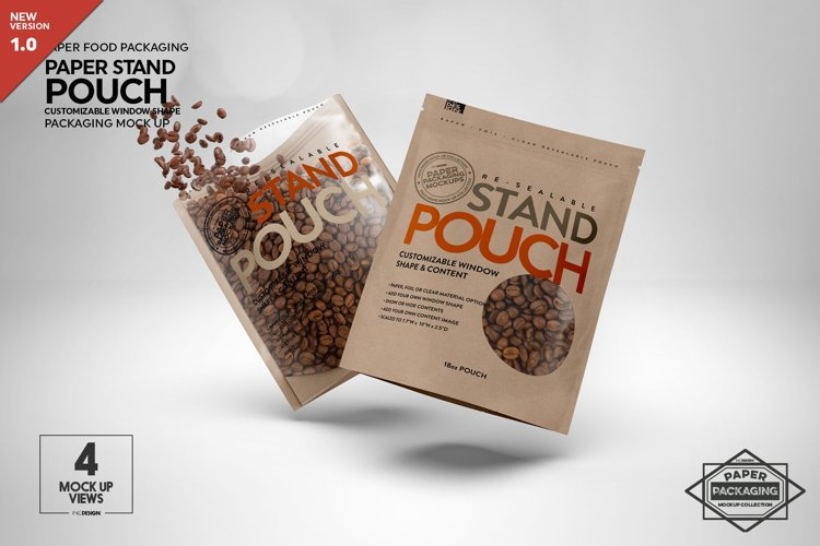 Paper 18oz Zip Pouch Packaging Mockup example image 1