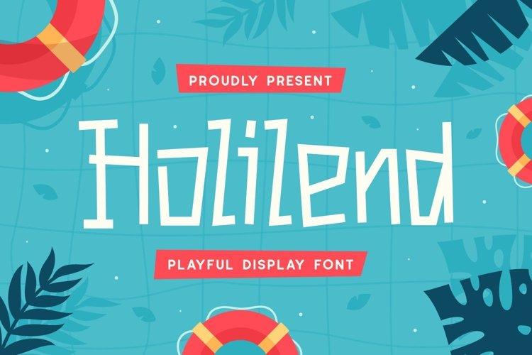 Holilend - Playful Display Font example image 1