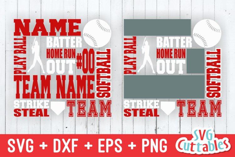 Softball SVG | Softball Subway Art | Shirt Design