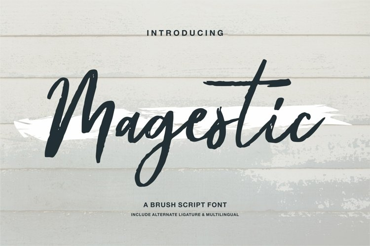 Magestic - A Brush Script Font example image 1