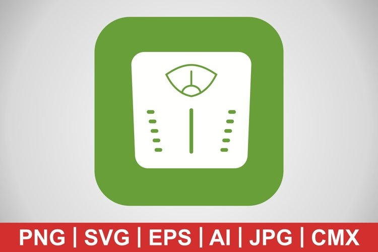 Vector Weight Machine Icon example image 1
