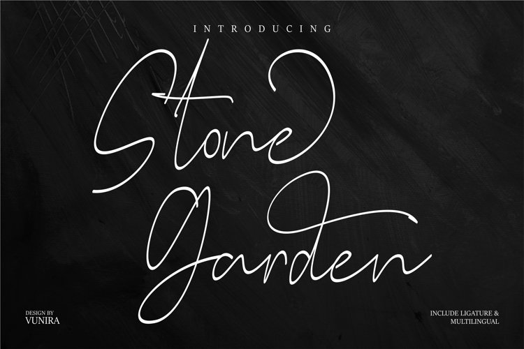 Stone Garden | Script Font example image 1