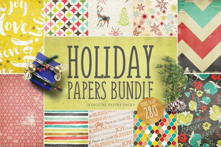 Holiday Digital Papers Bundle