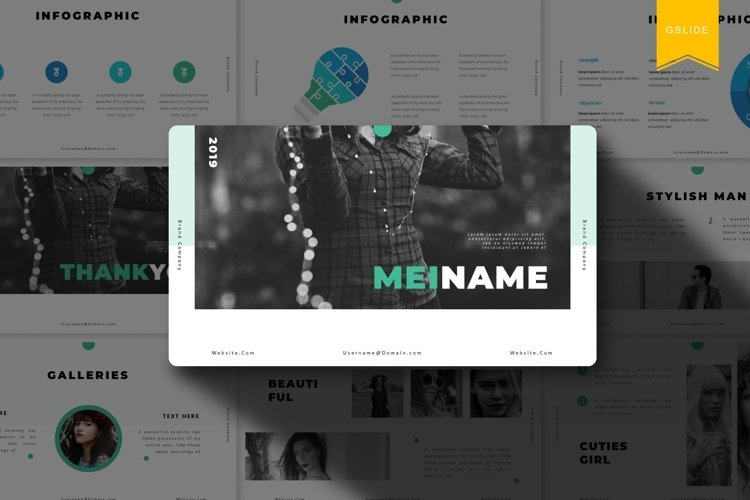 Meiname | Google Slides Template example image 1