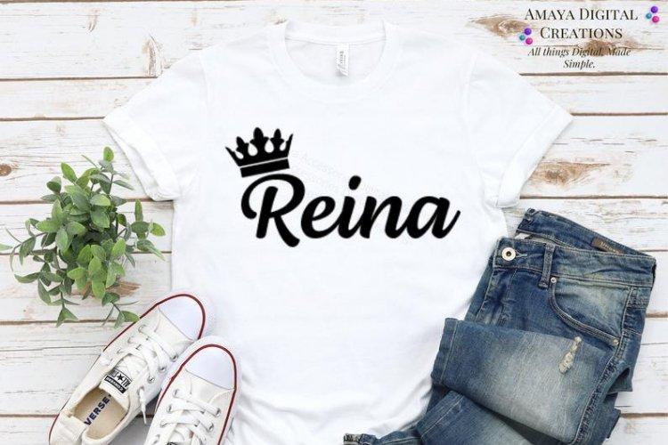 Reina Svg Instant Download example image 1