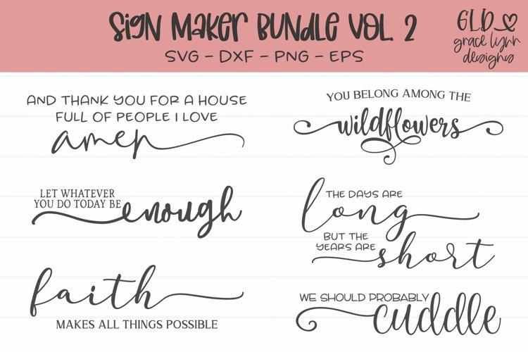 Sign Maker Bundle Vol. 2 - 6 Sign SVG Cut Files example image 1
