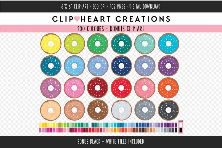 Donut Clipart - 100 Colours