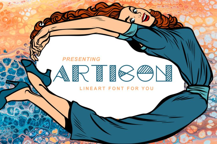 Articon - A Cute Lining Font example image 1