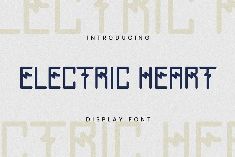 Web Font ELECTRICHEART Font example image 1