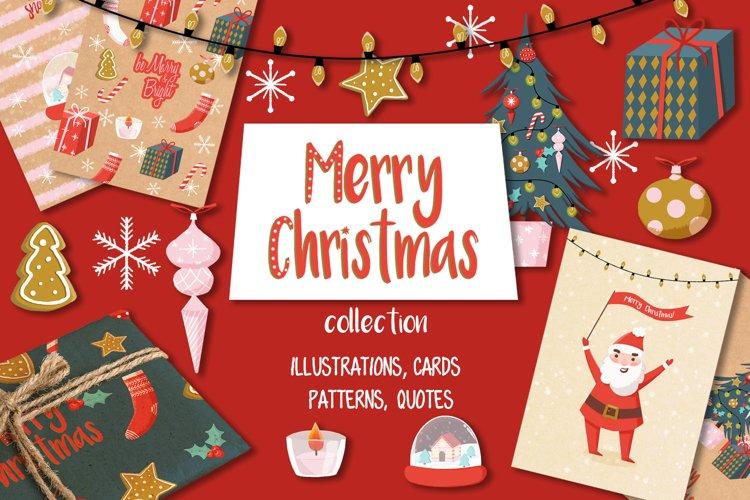 Merry Christmas hand drawn set