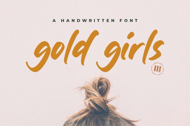 Gold Girls - A Handwritten Font example image 1
