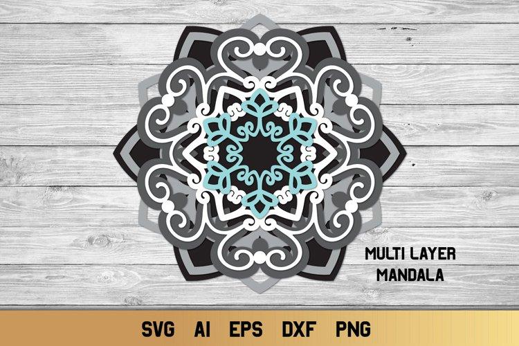 690+ 3D Snowflake Mandala Svg – SVG,PNG,EPS & DXF File Include