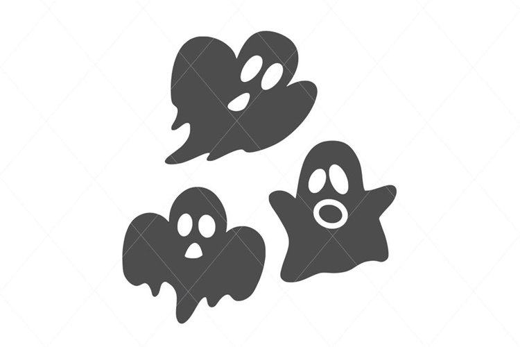 Cute ghost, ghost cut file, happy ghost, ghost svg example image 1