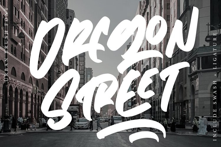 Oregon Street - Urban Brush Font example image 1