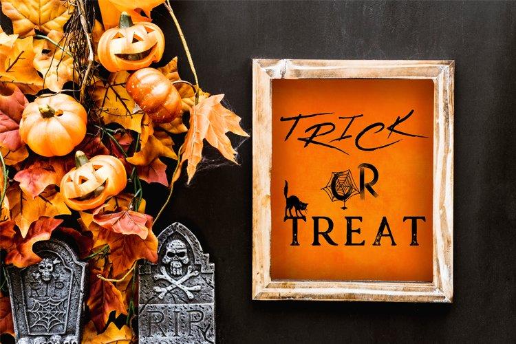 Trick or Treat Halloween SVG, Halloween Printable Sign