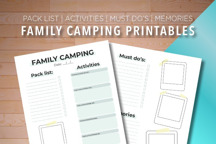 Family Camping Printable example image 1