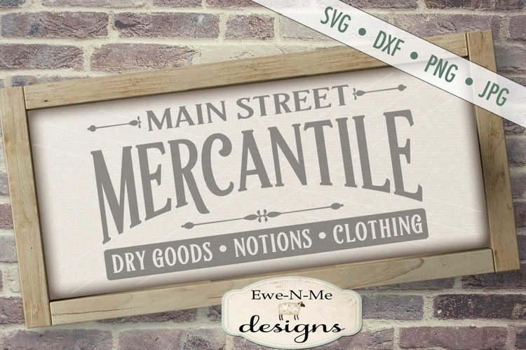Main Street Mercantile SVG DXF File example image 1