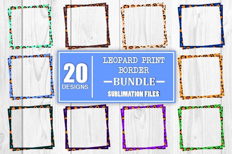 Sublimation Bundle Leopard Print Border Sublimation Bundle