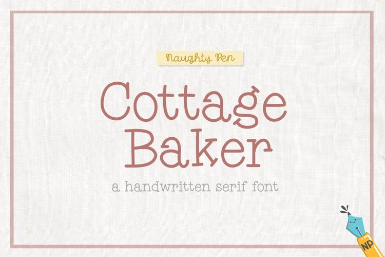 Cottage Baker Handwritten Serif Font example image 1