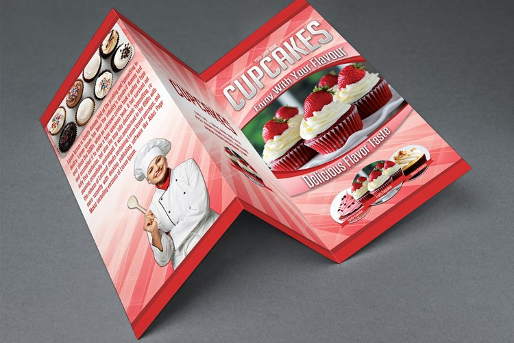 Cupcakes Trifold Brochure Template example image 1
