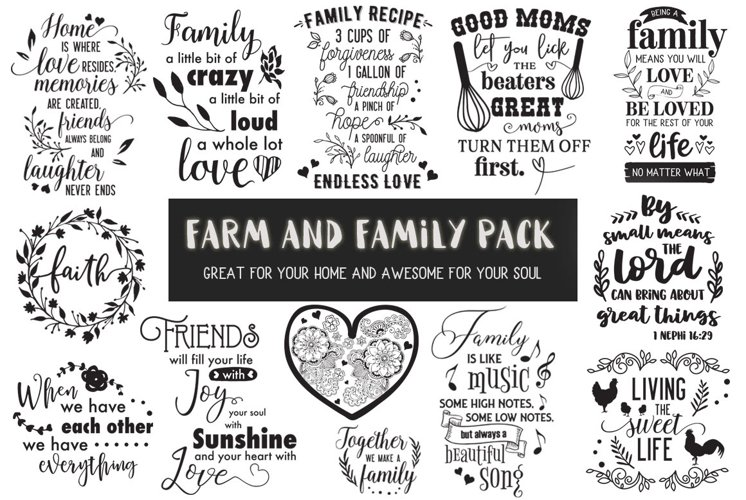 Farm and Family Cut Files Pack - Limited PROMO!