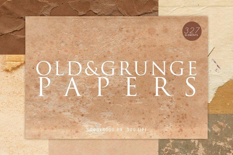 327 Old & Grunge Paper Textures Bundle