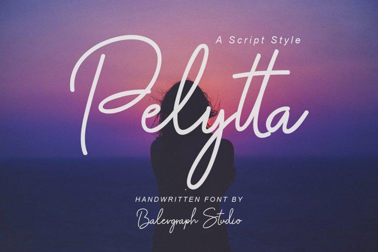 Pelytta Handwritten Script Font example image 1