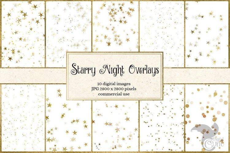 Starry Night Gold Overlays