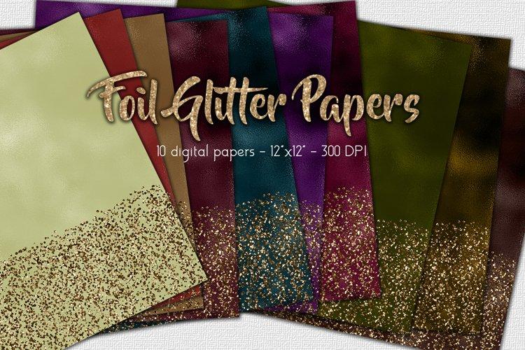 Foil Glitter Digital Paper Set