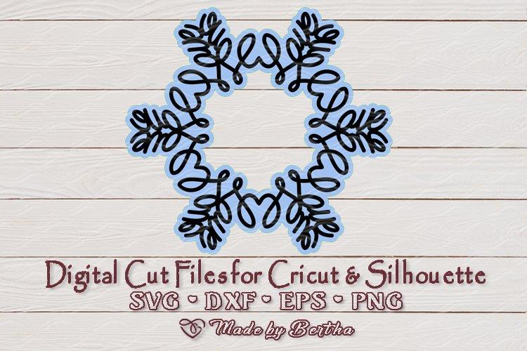 Snowflake full of LOVE - SVG cut file