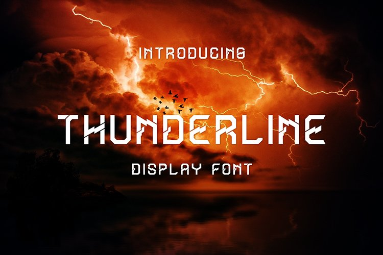 Thunderline Display Font example image 1