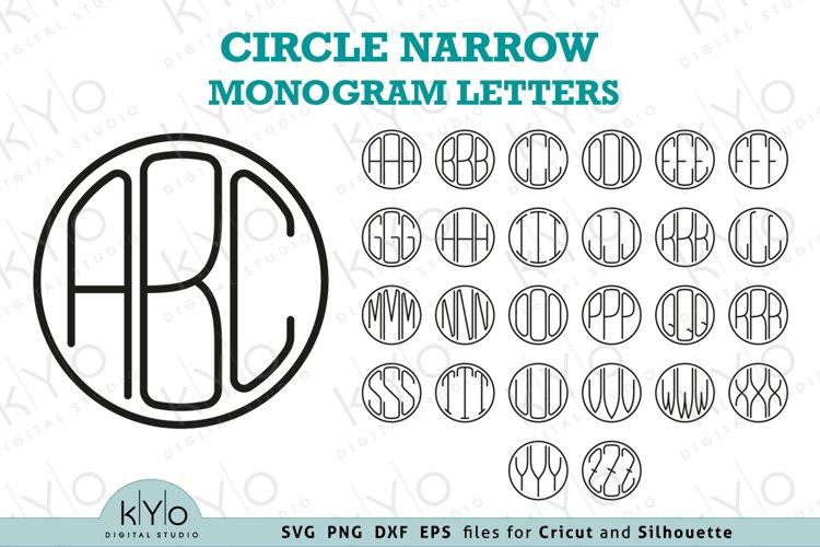 Circle Monoline Monogram Letters Svg Png Dxf Eps Files