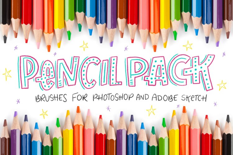 Pencil Pack PS Brushes example image 1